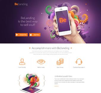 Be-Landing page